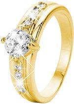 Eve Gold Plated Ring - Met Zirkonia - Maat 58