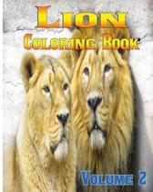 Lion Coloring Books Vol.2 for Relaxation Meditation Blessing
