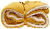 Unique Living Lars - Fleece polyester - Plaid - 150x200 cm - Sunflower Yellow