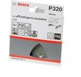 Bosch - 5-delige schuurbladenset 93 mm, 320