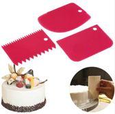 Fondant schraper - Kunststof Schraper voor taart / icing / cake / cupcake decoratie - Spatel - Fondant Snijder - Icing cutter scraper Keuken tool voor Marsepein en Fondant - Set van 3 stuks