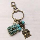 Geluk Boeddha Sleutelhanger Buddha Heart Unieke Giften