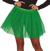 Petticoat/tutu rokje groen 40 cm voor dames - Tule onderrokjes donkergroen S-M-L