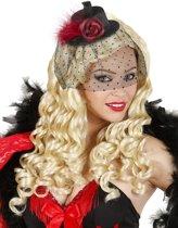 Mini hoedje voor vrouwen met sluier - Verkleedhoofddeksel