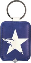 Dresz Sleutelhanger Met Licht Blue Star 6 Cm Blauw