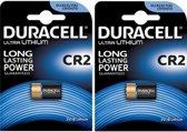 2 Stuks - Duracell CR2 EL1CR2 RLCR2 DR2R 3V Lithium batterij