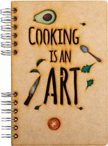 Houten notitieboek – A6 – Blanco - Cooking is an Art