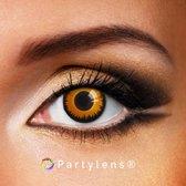 Partylenzen - Orange Wolf - jaarlenzen incl. lenzendoosje - kleurlenzen Partylens®