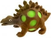 Johntoy Squeezy Dino - Stegosaurus 10 Cm Bruin