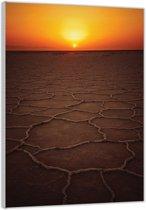 Plexiglas –Zonsondergang – 60x90cm  (Wanddecoratie op Plexiglas)