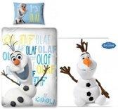 Disney Frozen Olaf - Dekbedovertrek - Eenpersoons - 140x200 cm - Multi