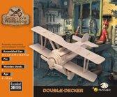 Eureka 3D Puzzel Gepetto's Houten dubbeldekkersvliegtuig - Multiplex