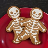 Duo Pack koekjes uitsnijvorm mannetje - Gingerbread / Gingerdead skelet cookie cutters - Inclusief gratis decoratiepen