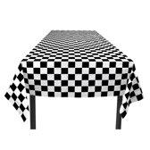 Finish tafelkleed - zwart/wit geblokt - 130 x 180 cm - F1