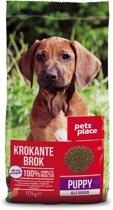 Pets Place Puppy Krokante Brokken - Hondenvoer - Gevogelte&Vlees - 10 kg
