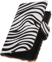 Croco Bookstyle Hoes voor Huawei Ascend Y625 Wit