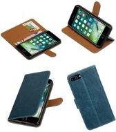 iPhone 7/8 Plus Blauw   Premium TPU PU Leder bookstyle / book case/ wallet case    WN™