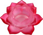 Sfeerlicht - Lotus - glas - rood - 5.5 x 12 cm