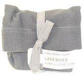 natuurlijke zeep - 100 % plantaardig - lavendelzeep in cotton bag - fairtrade