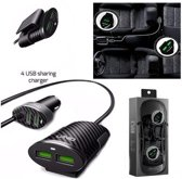 Ldnio Road / achterbank dubbele autolader met 4 USB poorten Met 1 Meter Micro USB Kabel geschikt voor o.a One Plus X