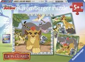 Ravensburger Disney The Lion Guard Drie puzzels van 49 stukjes