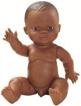 Paola Reina Gordi babypop donkere huidskleur pop donker bruine jongenspop