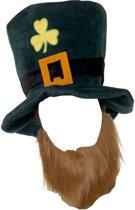 Kaboutermuts Leprechaun Saint-Patricks Muts Hoed met Baard - Verkleedhoofddeksel - One size