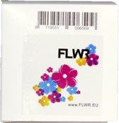 FLWR - Printetiket / 99018 Ordner smal / Wit - geschikt voor Dymo