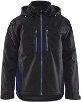Bläkläder functionele winterjas - Zwart/Korenblauw