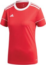 adidas Squad 17 SS Jersey Teamshirt Dames  Sportshirt performance - Maat L  - Vrouwen - rood/wit