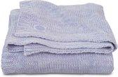 Deken 75x100cm Melange knit soft lilac