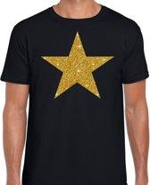 Gouden Ster glitter fun t-shirt zwart heren - heren shirt Gouden Ster M