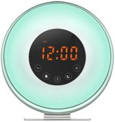 Sunrise Wake-Up Light - RGB Lichtwekker - FM Radio - Wit/RVS