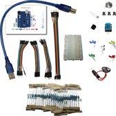 Starter kit: breadboard, jumper wires, LEDs, weerstanden,... zonder Arduino