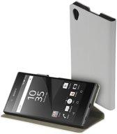 Wit slim booktype flipcover Sony Xperia Z5 Premium hoesje