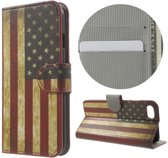 USA vlag book case wallet hoesje Iphone 7 / 8