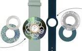 Deja Vu Premium horlogeset groen/blauw met goudkleurig uurwerk