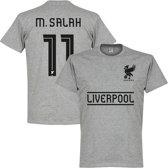 Liverpool Salah Team T-Shirt - Grijs - XXL