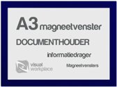 Magneetvenster A3 - Blauw