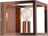 QAZQA Cage - Wandlamp - 1 lichts - D 200 mm - Koper