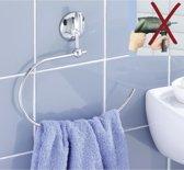 RVS/Chroom Handdoekring - Handdoekhouder Badkamer/Douche/Keuken - Handdoekrek - Handoekenrek - Handdoek Wandrek - Handdoekstang