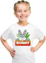 Bunny het konijn t-shirt wit voor kinderen - unisex - konijnen shirt L (146-152)