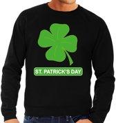 St. Patricksday klavertje sweater zwart heren S