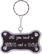 Sleutelhanger 'All you need is LOVE and a DOG'