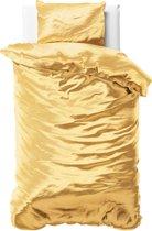 Sleeptime Beauty Skin Care - Dekbedovertrek - Eenpersoons - 140x200/220 + 1 kussensloop 60x70 - Goud