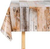 Tafelzeil - hout/bruin -140x250cm