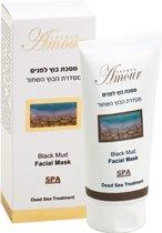 Zwarte modder gezichtmasker met Dode Zee zout mineralen Amour 150 ml