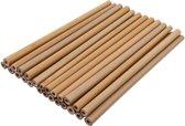 Bamboe rietjes - 25 Stuks - inclusief 2 schoonmaakborstels