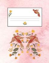 Flowers & Birds Pink 8.5 x 11 150 Pages Journal Notebook