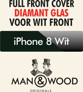Man & Wood iPhone 8 - Diamantglas Full Cover White